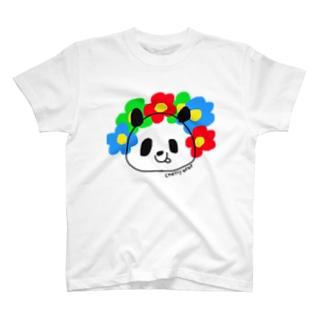 chatty bebe  パンダ T-shirts