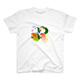 コザクラインコ4種類 T-shirts