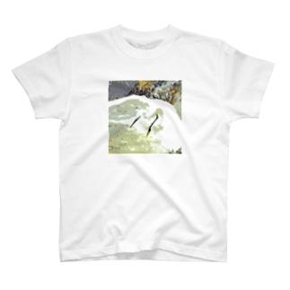 魚を狙うコサギ 2 T-Shirt