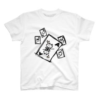 トランプにゃんひー T-shirts