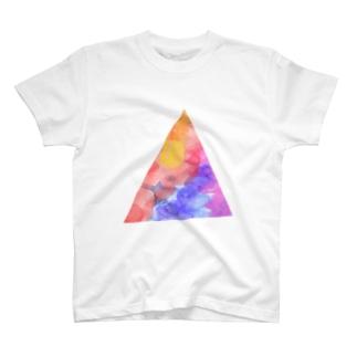 水彩▲夕日 T-shirts