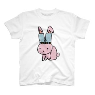 ズボンうさぎ T-shirts