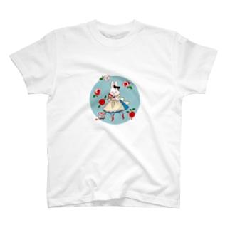 薔薇とうさぎアリス T-Shirt