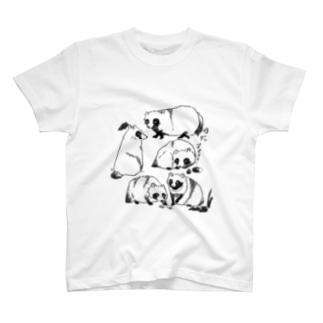 透明たぬき T-shirts