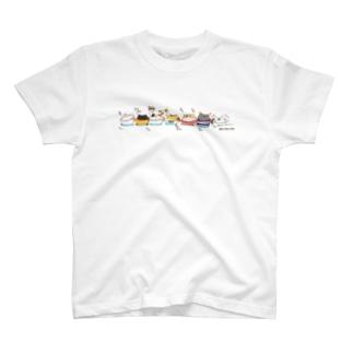 汽車ポッポねこにゃんぱ T-shirts