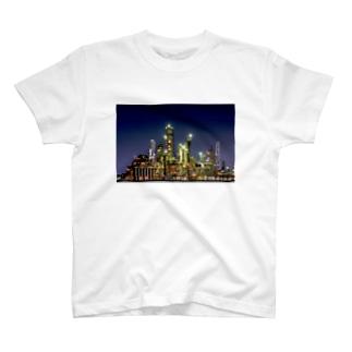 工場夜景(四日市) Tシャツ