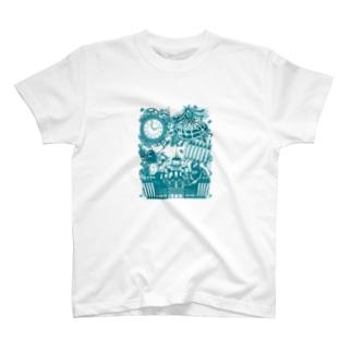 スチームパンク★不思議の国のアリス-ブルー T-shirts