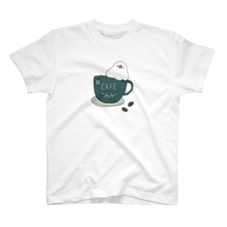 コーヒーカップ文鳥☕  (文鳥の日 2021記念) T-Shirt