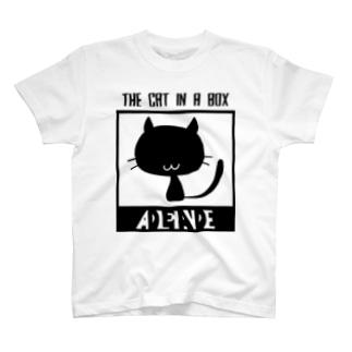 シュレディンガーの黒猫 T-shirts