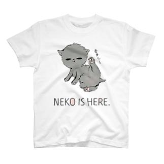 NEKO IS HERE. T-Shirt