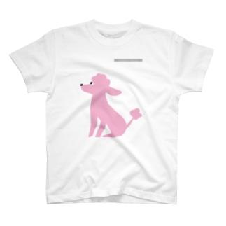 トイプードルのエダマメトイチpink T-shirts