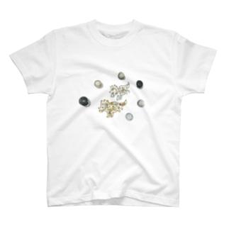 DINO2AVESの角竜の宇宙さんぽ⋆* T-shirts