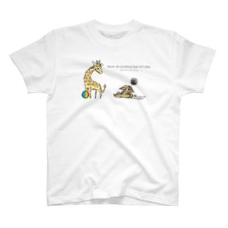 イライラジャッカルくんとキリンくん T-shirts