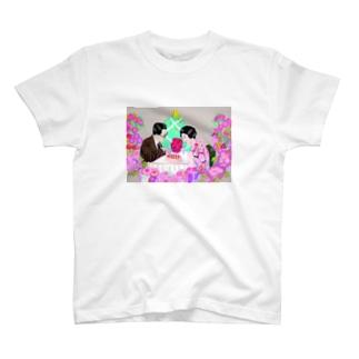 レトロジャパニーズカップル Tシャツ