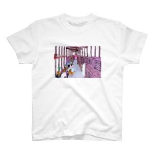 町家えほん・はしりにわ Tシャツ