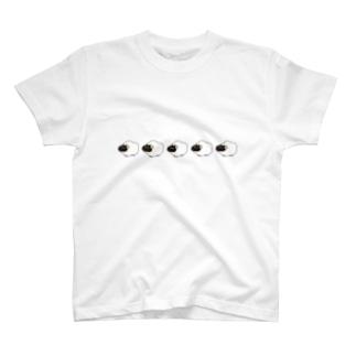 もくもくひつじさんの行進 T-shirts