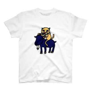アオイヤギとキモネコ T-shirts