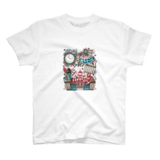 スチームパンク★不思議の国のアリス-カラフル T-shirts