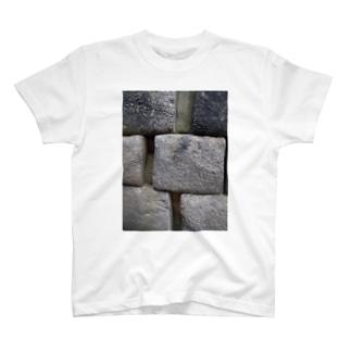 nice☆stone-マチュピチュ遺跡-石壁 T-shirts