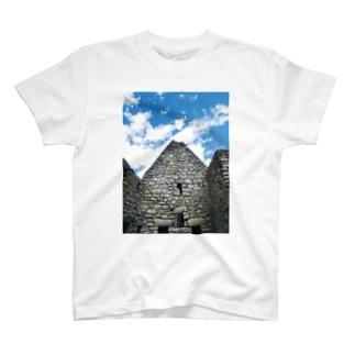 nice☆stone-マチュピチュ遺跡-家屋石壁 T-shirts