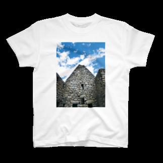 mi_toのnice☆stone-マチュピチュ遺跡-家屋石壁 T-shirts