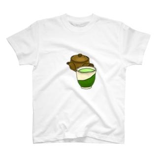 お茶急須湯のみ T-shirts