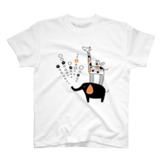tanka/ぞう・きりん・りすちゃん T-shirts