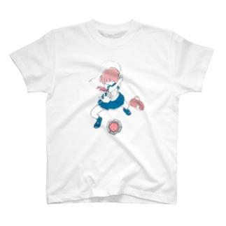 ベーゴマ少女 T-shirts