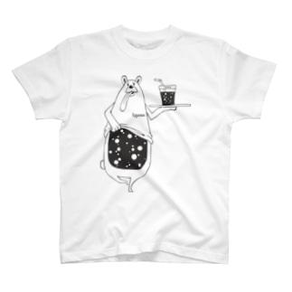 I.gasu peachbear black 【アイガス】 T-shirts