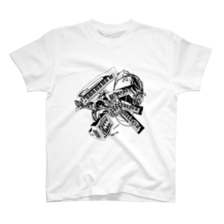 【ROCKOLOID SAULUS】 type-Synthesizer T-shirts