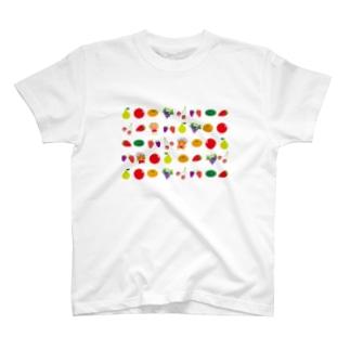フルーツに隠れたクレコちゃんを探せ! T-shirts