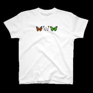 リラックス商会の3匹の綺麗な蝶々 T-shirts