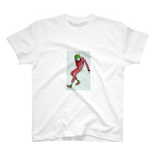 ちろちろりの赤い格子模様 T-shirts