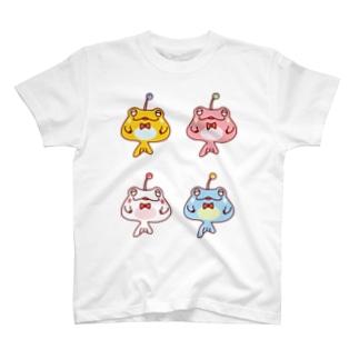 4ひきのカエルアンコウ T-shirts