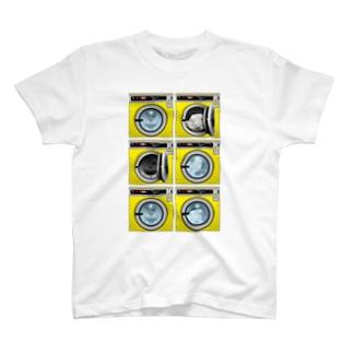 コインランドリー Coin laundry【2×3】 T-shirts