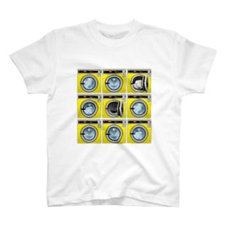 コインランドリー Coin laundry【3×3】 Tシャツ