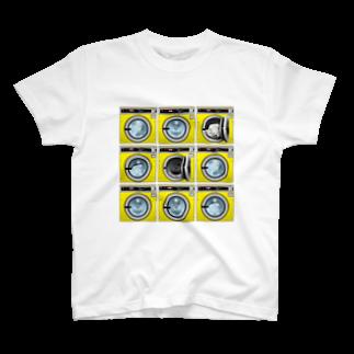 TOMOKUNIのコインランドリー Coin laundry【3×3】 T-shirts