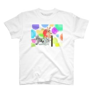 ゆめかわアニマル:通常【犬猫鳥兎】 Tシャツ
