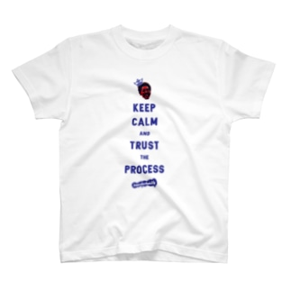 TRUST THE PROCESS -blue- T-shirts