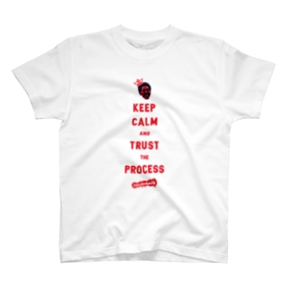 TRUST THE PROCESS -red- T-shirts