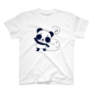 ズレぱんだちゃんなぞーと一緒 T-Shirt
