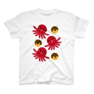 タコ&たこ焼き T-shirts