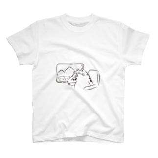 鳥獣戯画 カワズの車窓から T-shirts
