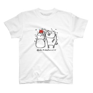 騒がしい猫 カウントダウン 雪だるま T-shirts
