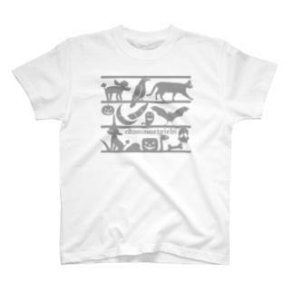 トイプードルのエダマメトイチ Halloween2 gray T-shirts