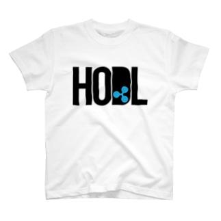 HODL XRP black font T-shirts