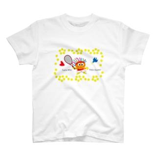 幸運の青い鳥とテニスキッズのクレコちゃん T-shirts