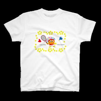 ジルトチッチのデザインボックスの幸運の青い鳥とテニスキッズのクレコちゃん T-shirts