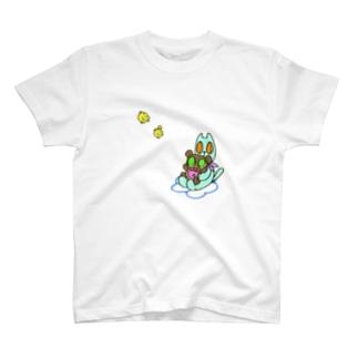くまちゃんねこさん T-shirts