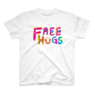 もやしくんのフリーハグ/FREE HUGS T-shirts